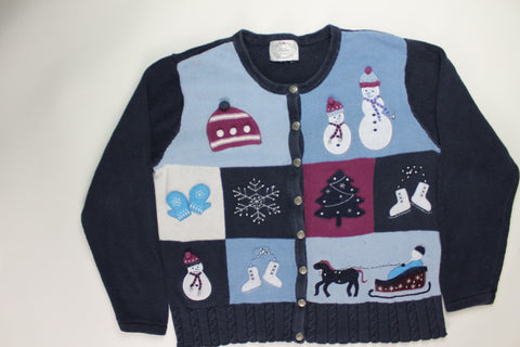Snow Season Fun- Large Christmas Sweater
