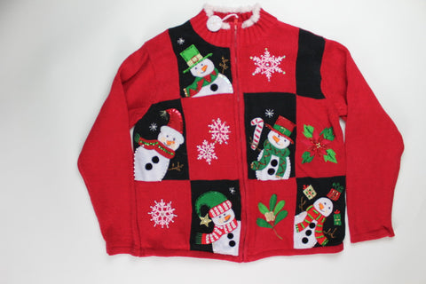 Hide N Seek Snowman- X Small Christmas Sweater