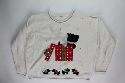Scottie Surprise- Large Christmas Sweater