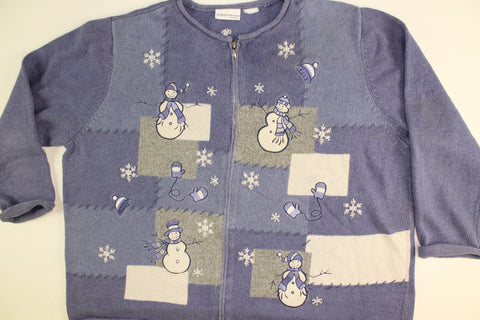 Snow Flurries Make Snowmen- XX Large Christmas Sweater