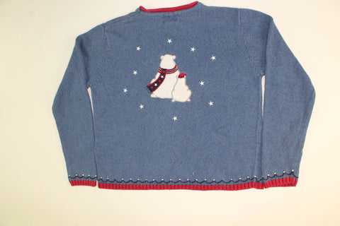 Polar Red White and Boom-Small Christmas Sweater