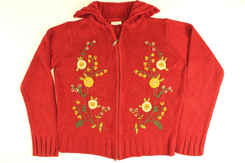 Sunflowers of Fall- Medium Christmas Sweater