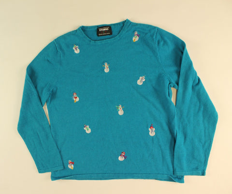 Snowman Explosion- X Small Christmas Sweater
