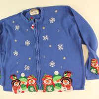 Snow Falling On My Head- Large Christmas Sweater