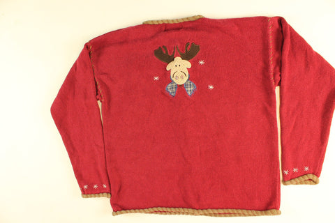 Mooseville- Small Christmas Sweater