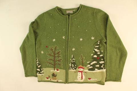 Snowman Forrest- Medium Christmas Sweater