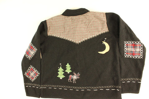 Holiday Moose Tracks- Small Christmas Sweater