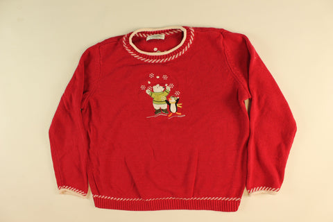 Arctic Fight-Medium Christmas Sweater
