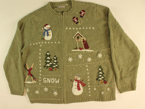 Snowmore Winter-Medium Christmas Sweater