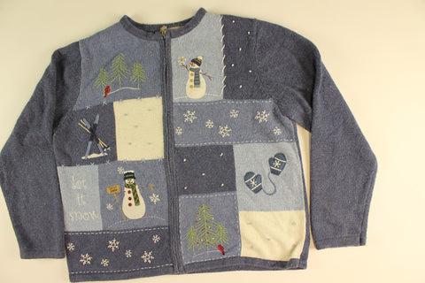 Winter Snow- Medium Christmas Sweater
