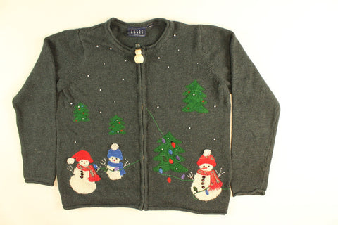 Lighting Community Trees- Small Christmas Sweater