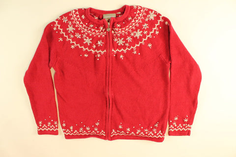 Snowflakes and Sparkle- Small Christmas Sweater