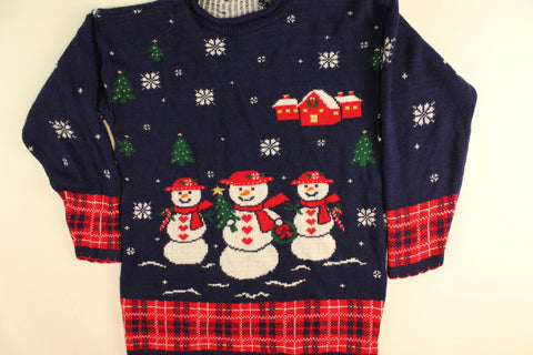Snowman Tree Farm- Small Christmas Sweater