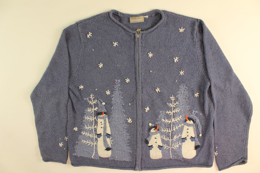Watch A Falling Snowflake- Large Christmas Sweater
