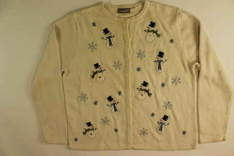 Reaching For Snow- Large Christmas Sweater