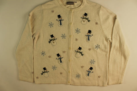Snowmen and Their Flakes- Medium Christmas Sweater