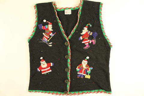 Santa Winter Vacation- Large Christmas Sweater