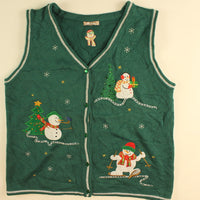 Woodland Frosty- Medium Christmas Sweater