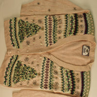 Trees In Pairs-Small Christmas Sweater