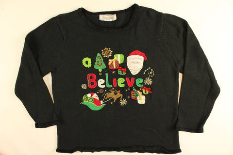Always Believe- Medium Christmas Sweater
