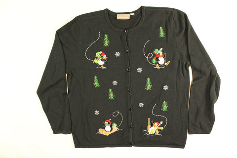 Party With The Penguins- Small Christmas Sweater