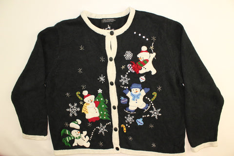 Frosty Follies- Large Christmas Sweater