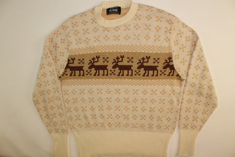 Moose On The Move- Small Christmas Sweater