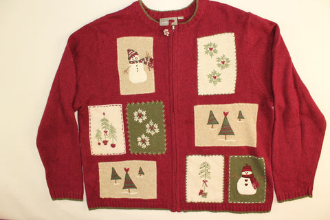 Winter Trio-Large Christmas Sweater