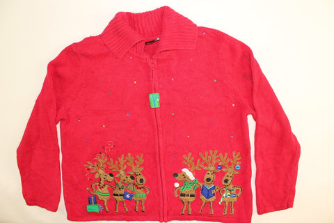 Reindeer Carols- Large Christmas Sweater