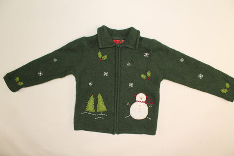 Sassy Snowman- Kids Christmas Sweater