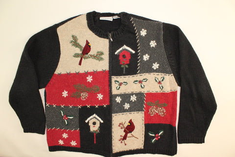 Cardinal Winter- Large Christmas Sweater