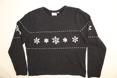 Traditional Snowflakes- Medium Christmas Sweater