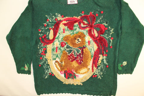 Holiday Bear Tree-Large Christmas Sweater