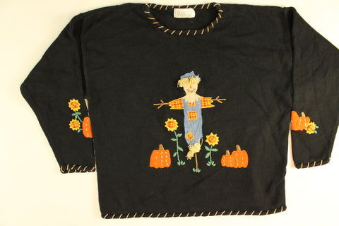 Pumpkin Watch- Large Halloween Sweater