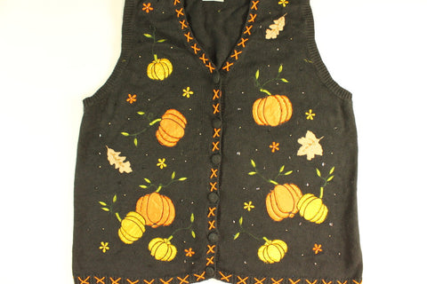 Pumpkin Hunting Patch- X Large  Halloween Sweater