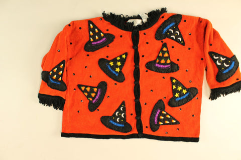 Witch Hat Do I Wear- Large Halloween Sweater