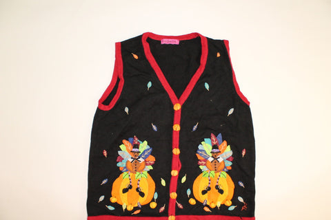 Toms Feathers For The Pumpkin- X Small Halloween Sweater