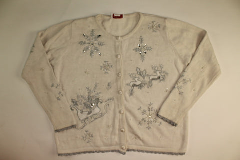 Flying Silver- Large Christmas Sweater