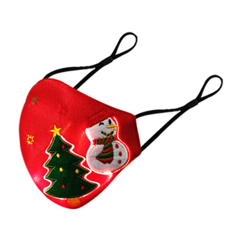 Christmas Light Up Rechargeable Sound Sensor Fiber Optic Mask
