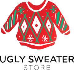 The Ugly Sweater Store- Vintage Ugly Christmas Sweaters for your next sweater party Logo