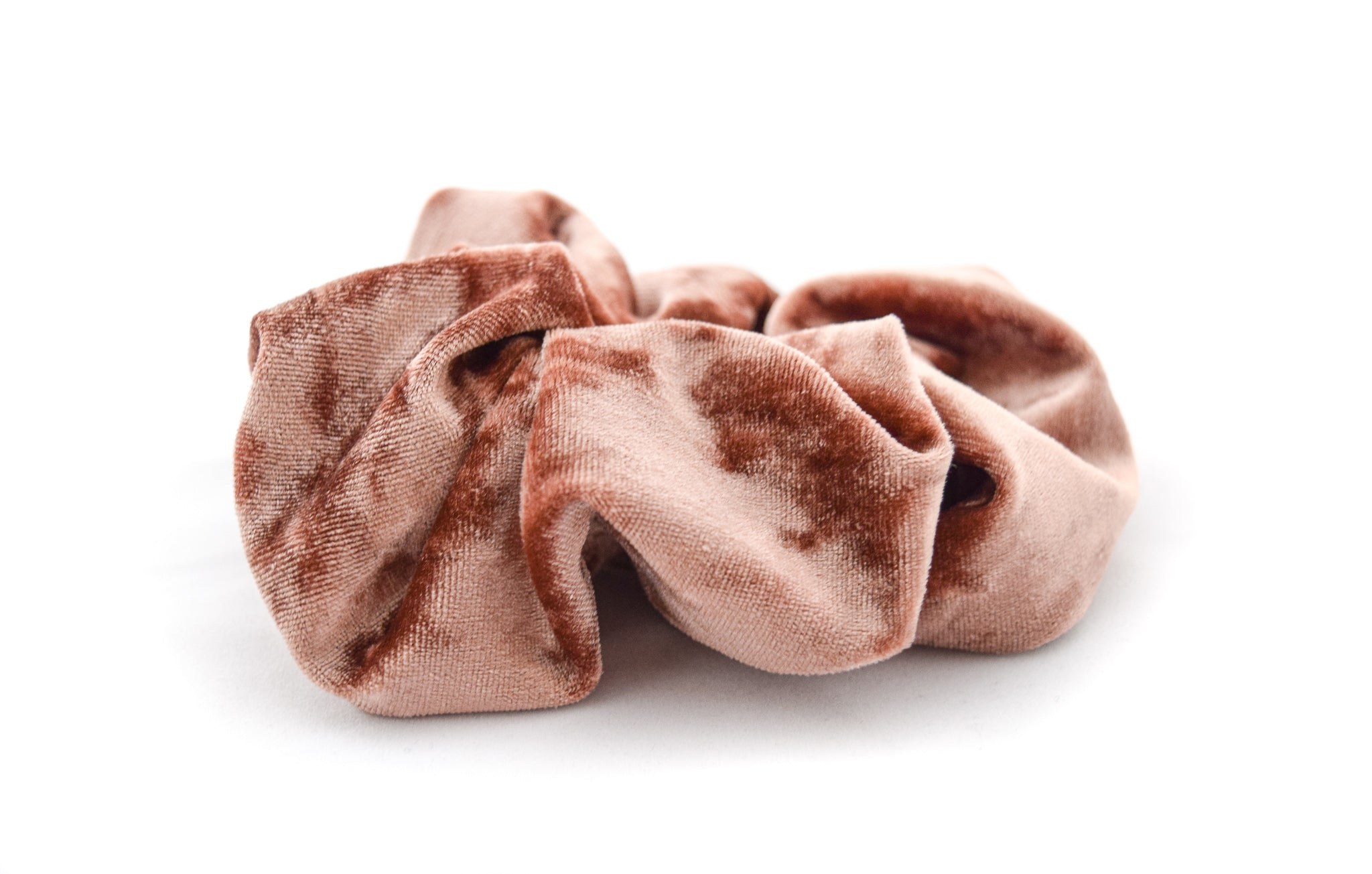 Nude velour scrunchie