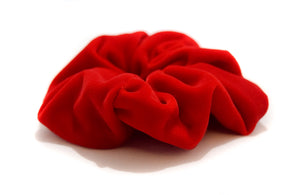 Red micro velvet large scrunchie