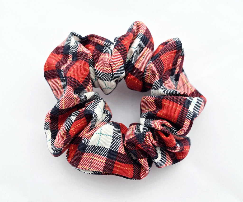 plaid cotton scrunchie