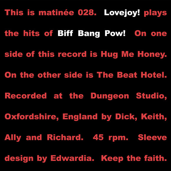 Lovejoy - Plays Biff Bang Pow!