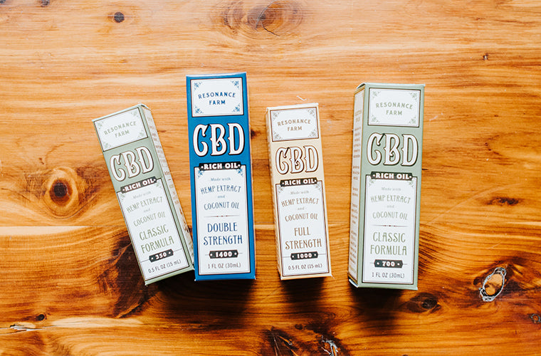 CBD products on display