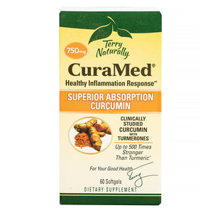 Terry Naturally CuraMed Superior Absorption Curcumin 750mg, front label