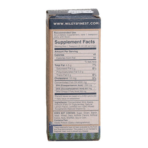 Wiley's Fish Oil back label