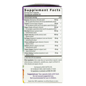 New Chapter Zyflamend Whole Body Supplement Facts