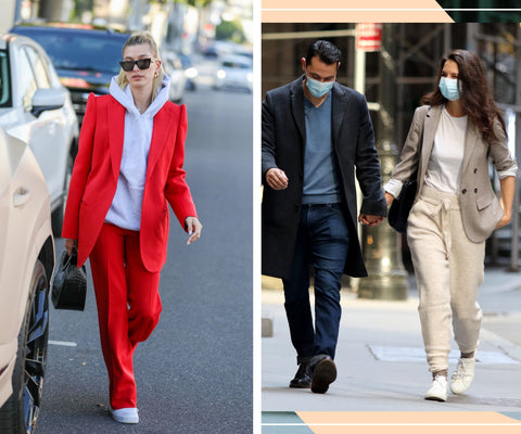 Hailey Bieber, Katie Holmes, Casual Suit, Red Suit, Beige Suit, Casual Style, Power Dressing