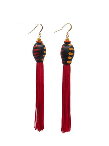 Gumnut Tassel Earrings by Rosita Ward